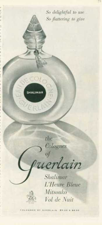 Guerlain Shalimar Colognes Bottle (1959)