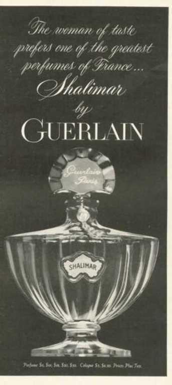 Guerlain Shalimar Perfume Bottle 1958