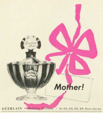 Guerlain Shalimar Perfume for Mother 1961
