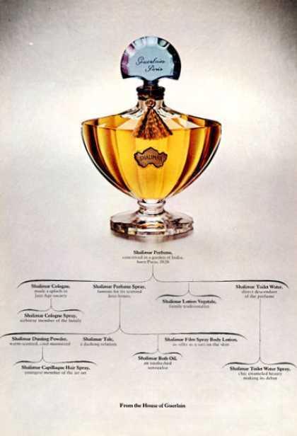 Guerlain Shalimar Perfume Bottle 1971